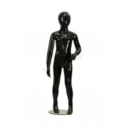 Mannequin child fiber glass gloss black