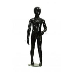 Maniquí nen de fibra de vidre brillant negre