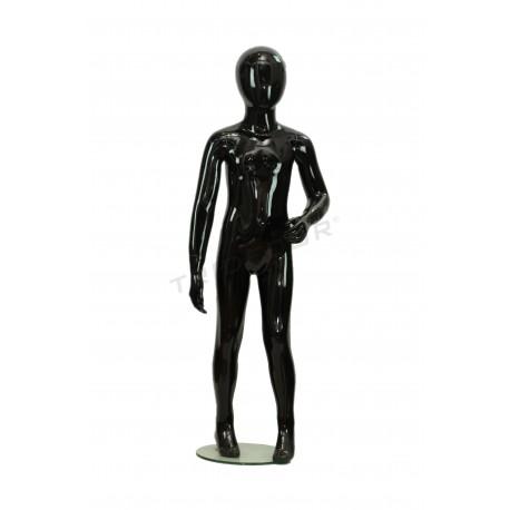 Mannequin child fiber glass gloss black