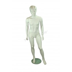 Mannequin girl teen of fiber glass matte white