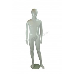 Mannequin teen child fiber glass white gloss