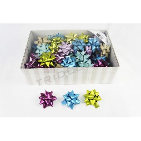 Estrellas adhesivas varios colores 8x8x4cm 70 unidades