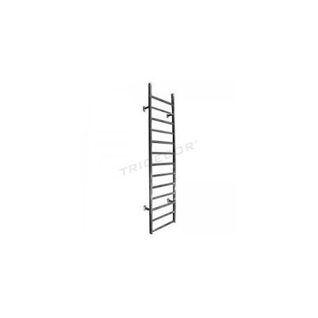 038505 Expositor metálico de parede cromado. Tridecor