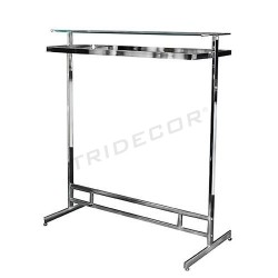 Garment rack rectangular with glass