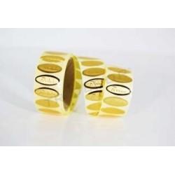 Etiqueta adhesiva, Felicidades, color dorado. 500 uds., tridecor