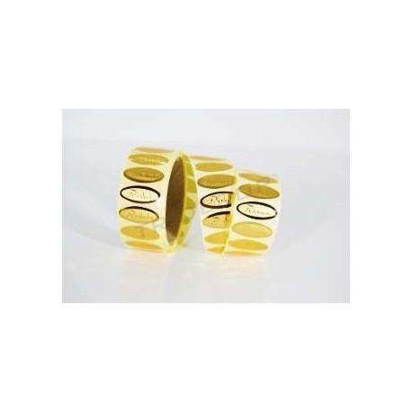 Adhesive label, Congratulations, golden color. 500 pcs., tridecor