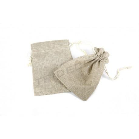 Bolsa tela de saco, 17x12 cm. 20 uds, tridecor