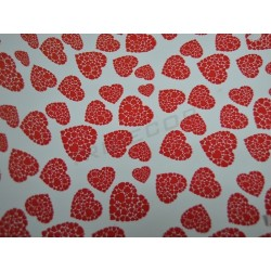 Agasallo de corazóns de papel vermello 31cm