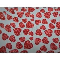 Papel de presente corações vermelhos 31cm