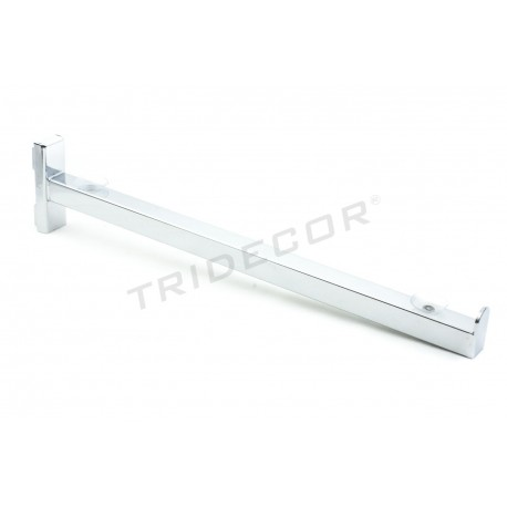 002102 Soporte de estante para sistema de cremallera 40.5 cm. Tridecor