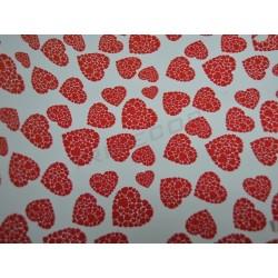 Papel de regalo corazones rojos 62cm