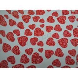 Regalo cuori di carta rosso 62cm