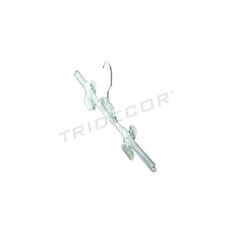 衣架做出明确的塑料带有镊子,五个单位,tridecor