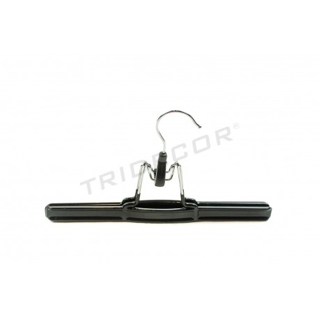 Coat hanger coated in black rubber, 4 units, tridecor