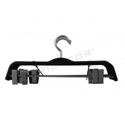 Hanger pants coated in rubber, black, 37 cm, tridecor