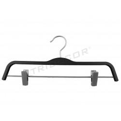 Cabide para calças revestida em borracha preta, 37 cm, tridecor