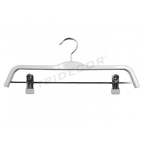 Perxa de plàstic blanc amb clips el 37,5 cm