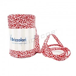Tape raffia patterned hearts 200 meters tridecor