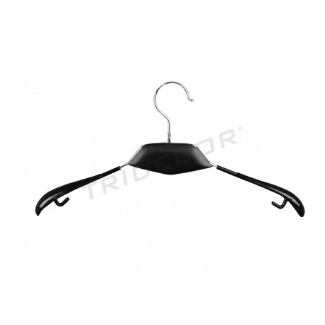 Percha metalica, cuello negro 40 cm, tridecor