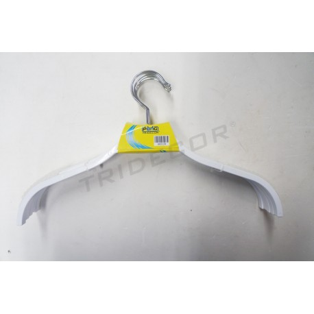 Cintre en plastique blanc 38 cm