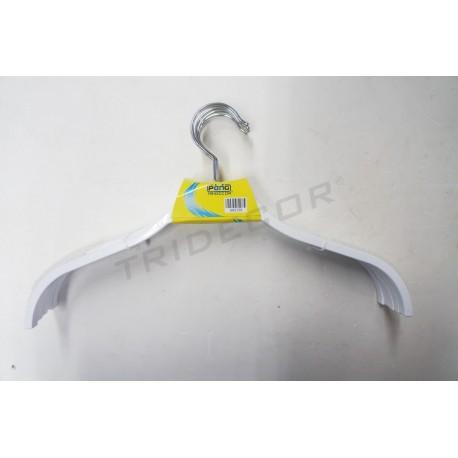 Gancho de plástico branco 38cm