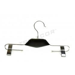 Percha metalica con pinzas cuello negro, tridecor