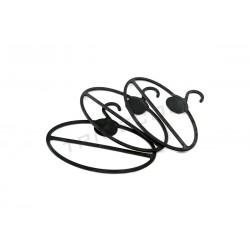Colgador oval para panos para o pescozo, plástico negro, 10 pcs., tridecor