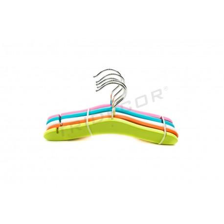 Percha infantil surtido 5 colores 26.5 cm