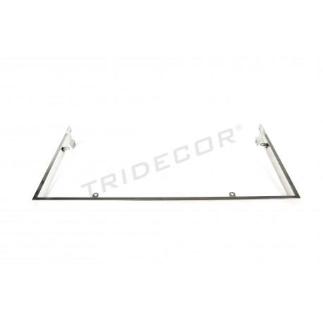 006528 Estante cristal para sistema de cremallera 59.5x29cm Tridecor