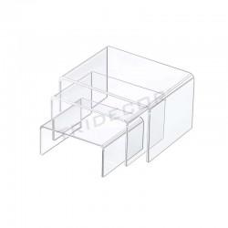 007008 Expositor acrílico forma C 3 alturas, tridecor