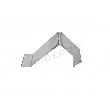 Expositor acrílico para calzado o artículos de poco peso 17x9x4 cm. Tridecor