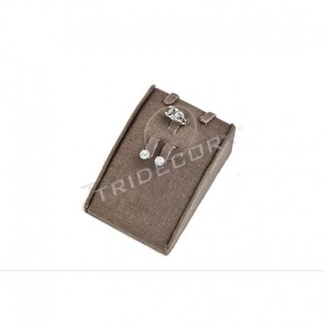 Expositor de joyería, lino marrón, conjunto, tridecor
