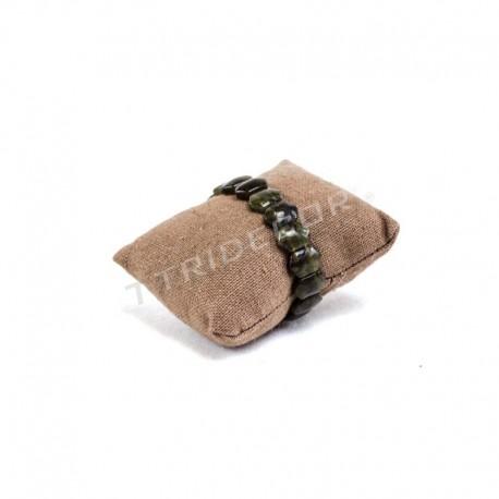 009671 Almohadilla para pulseras, lino marron. Tridecor