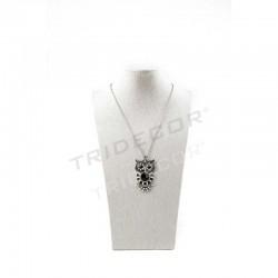 Expositor collar lino beige 30X11.5X10.5 cm, tridecor