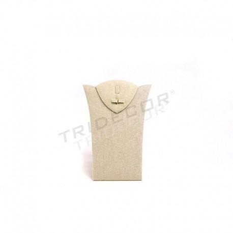 Expositor para conjunto de joyeria lino beige, tridecor