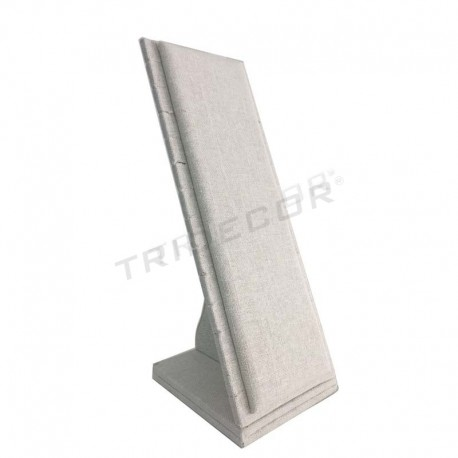 Expositor de pulseras lino beige 11x10x27 cm, tridecor