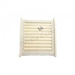 Expositor de anillos, lino beige 25x24.5x15 cm, tridecor