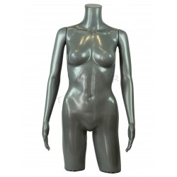 Busto mujer con brazos plástico gris