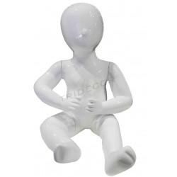 Manichino bimbo bambino seduto 1 anno colore bianco luminosità