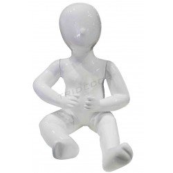 Mannequin child child sitting 1 year color white brightness