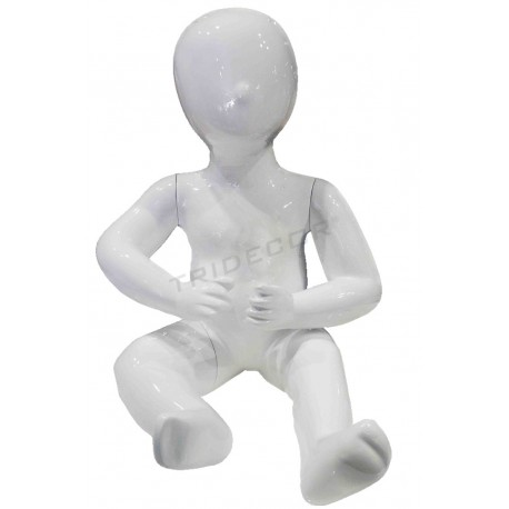 模特的孩子的儿童坐1年的颜色白色的亮度