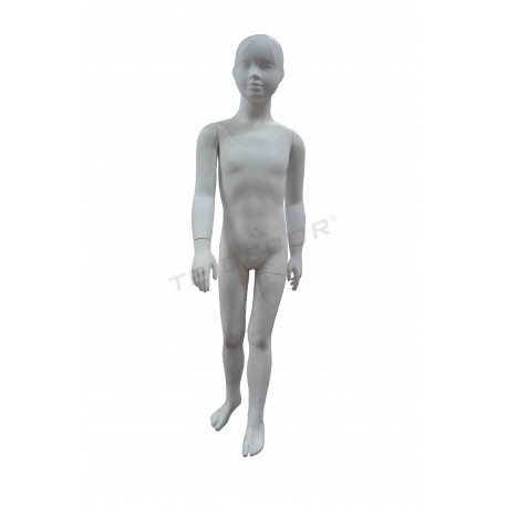 040305 Mannequin-child, white matte. Tridecor