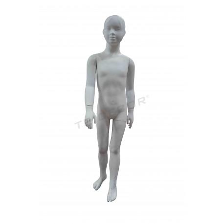 040305 Maniquí niño blanco mate. Tridecor
