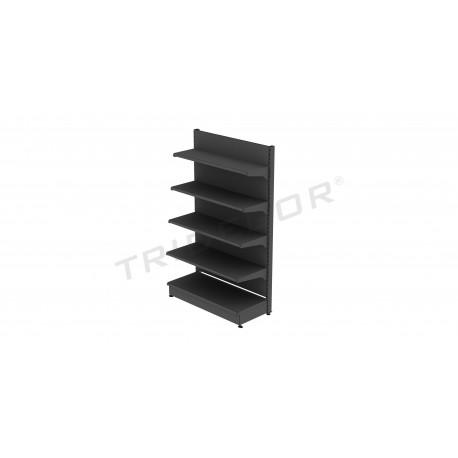 Estante metálica cinza com chapa 120x200 cm, tridecor