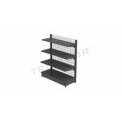 Metal shelf, with grey mesh, 120x150 cm, tridecor