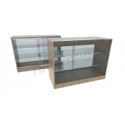 Balcão vitrine em cor Oak claro 120cm
