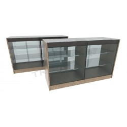 Balcão vitrine cor Oak Claro 150cm