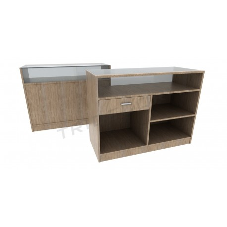 Mostrador color oak claro,120cm, tridecor