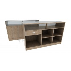 Mostrador color Oak Claro,150cm, tridecor