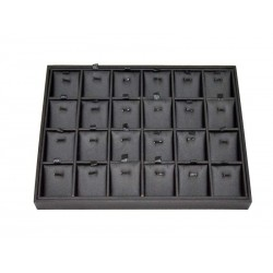 EXHIBITOR JEWELRY CASE 24 COMPARTMENTS IMITATION LEATHER BLACK